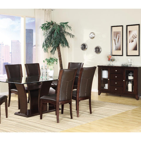Homelegance Daisy 6 Piece Rectangular Dining Room Set in Espresso