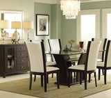 Homelegance Daisy 7 Piece Rectangular Dining Room Set in Espresso