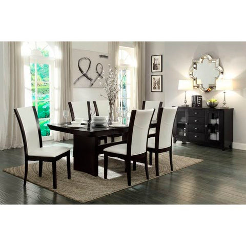 Homelegance Daisy 7Pc Dining Set In Espresso