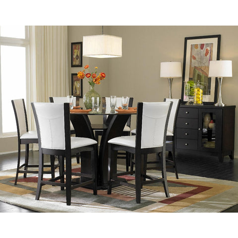 Homelegance Daisy Round Counter Height Table in Espresso