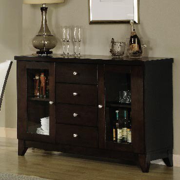 Homelegance Daisy Server in Espresso