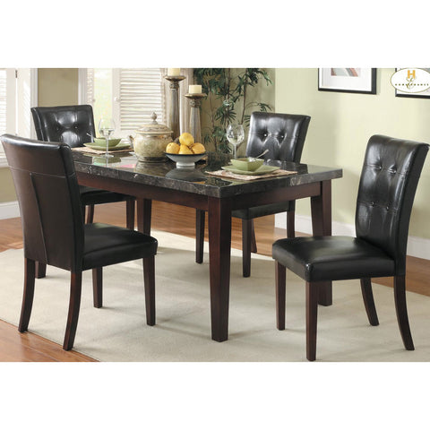 Homelegance Decatur 5 Piece Rectangular Dining Room Set w/ Marble Top