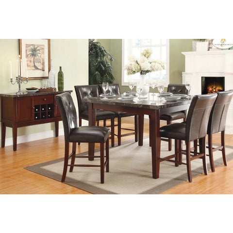 Homelegance Decatur 8 Piece Counter Dining Room Set w/ Marble Top