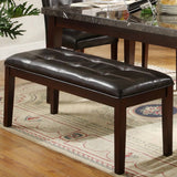 Homelegance Decatur Tufted Bench in Dark Brown
