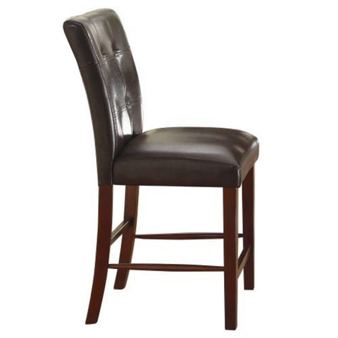 Homelegance Decatur Tufted Counter Height Chair in Dark Brown