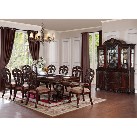 Homelegance Deryn Park 10 Piece Double Pedestal Dining Room Set in Cherry