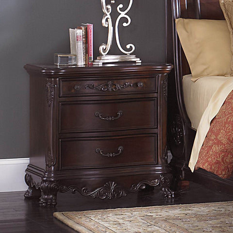 Homelegance Deryn Park 3 Drawer Nightstand in Cherry