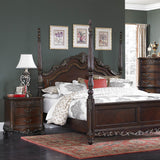 Homelegance Deryn Park 3 Piece Sleigh Bedroom Set in Cherry