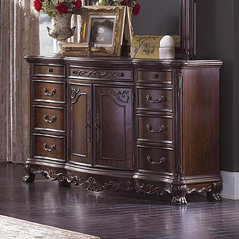 Homelegance Deryn Park 9 Drawer Dresser in Cherry