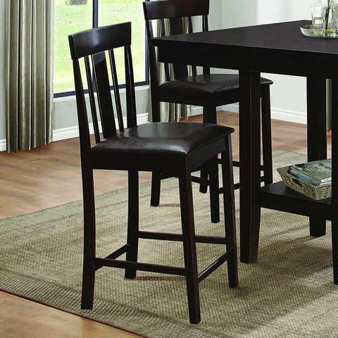 Homelegance Diego Counter Height Chair in Black Bi-Cast Vinyl
