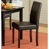 Homelegance Dover Upholstered Side Chair in Espresso