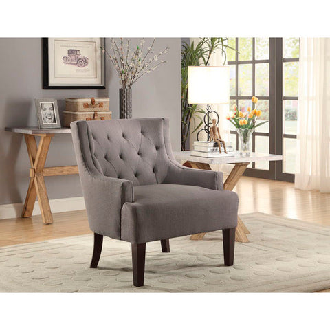 Homelegance Dulce Accent Chair In Grey