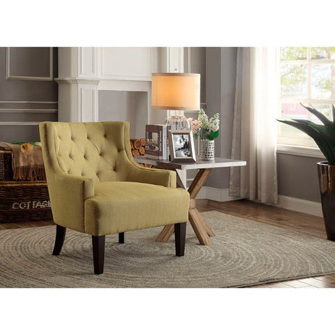 Homelegance Dulce Accent Chair In Mustard/Yellow