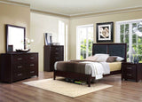 Homelegance Edina 2 Drawer Nightstand in Espresso Cherry