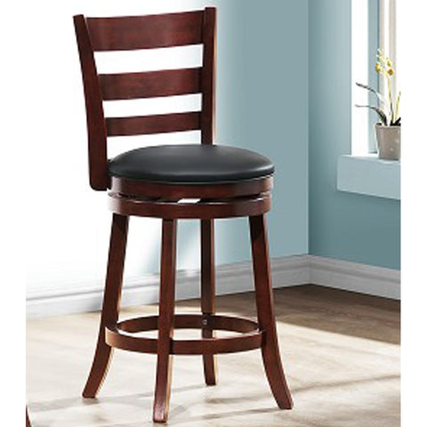 Homelegance Edmond Ladder Back Counter Height Chair in Dark Cherry