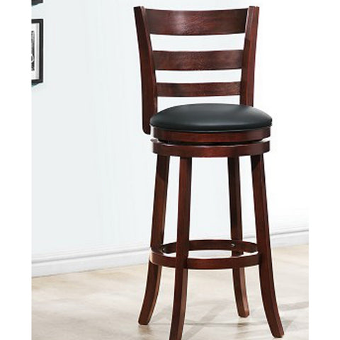 Homelegance Edmond Ladder Back Pub Chair in Dark Cherry
