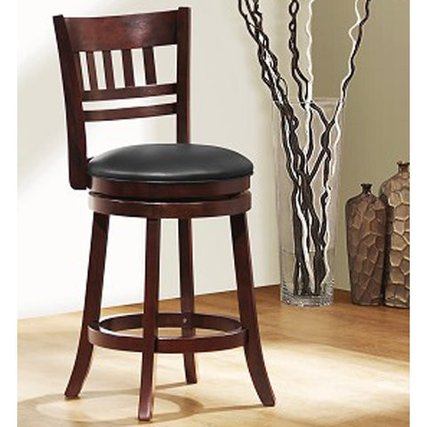 Homelegance Edmond Swivel Counter Height Chair w/ Ladder/Slat Back