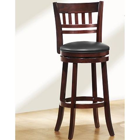 Homelegance Edmond Swivel Pub Chair w/ Ladder/Slat Back