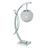 Homelegance Etsu Table Lamp in Glass & Satin Nickel Metal