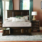 Homelegance Eunice 2 Piece Platform Bedroom Set w/Storage Footboard in Espresso