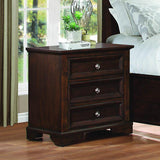 Homelegance Eunice 3 Drawer Nightstand in Espresso