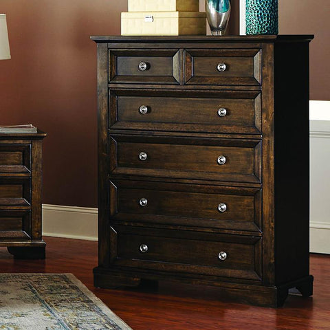 Homelegance Eunice 6 Drawer Chest in Espresso
