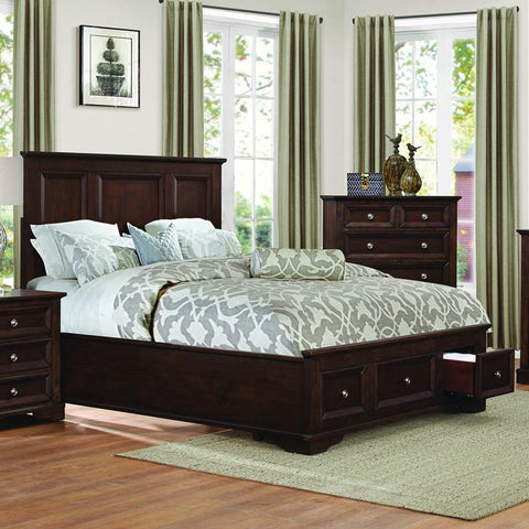Homelegance Eunice Platform Bed w/Storage Footboard in Espresso