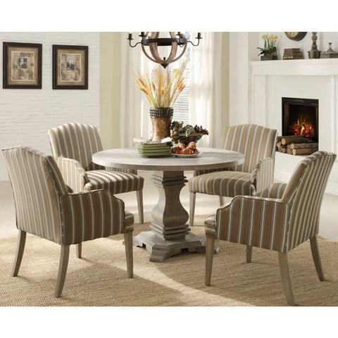 Homelegance Euro Casual 5 Piece Round Pedestal Dining Room Set