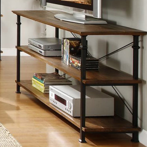 Homelegance Factory Rectangular Sofa Table w/ Wrought Iron Base