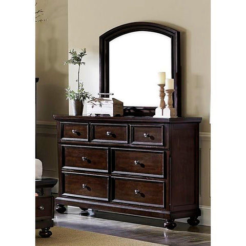 Homelegance Faust Dresser In Dark Cherry
