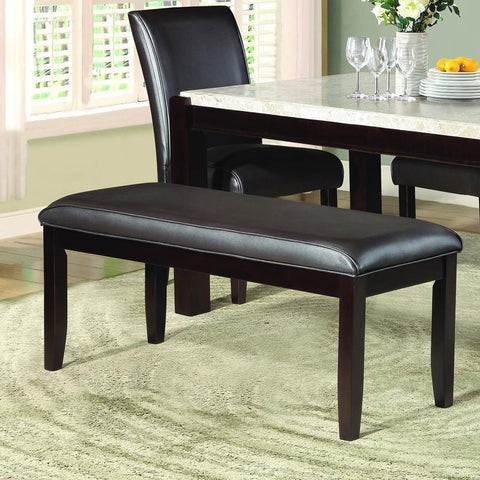 Homelegance Festus 49 Inch Bench in Dark Brown Bi-Cast Vinyl