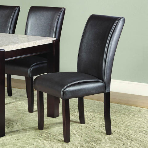 Homelegance Festus Side Chair in Dark Brown Bi-Cast Vinyl
