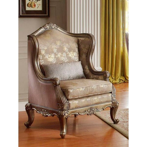 Homelegance Fiorella Chair In Dusky Taupe