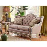 Homelegance Fiorella Love Seat In Dusky Taupe