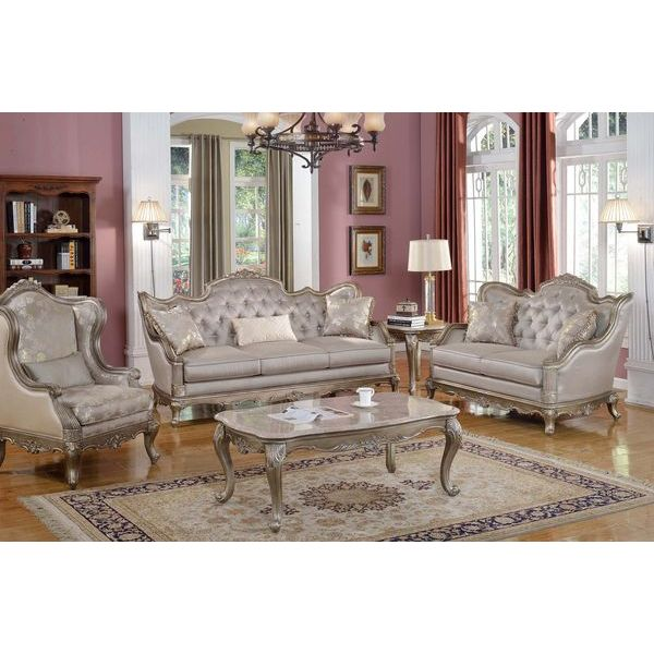 Homelegance Fiorella Three Piece Sofa Set In Dusky Taupe Beyond Stores