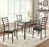 Homelegance Flannery Side Chair w/ Dark Brown Bi-Cast Vinyl Seat