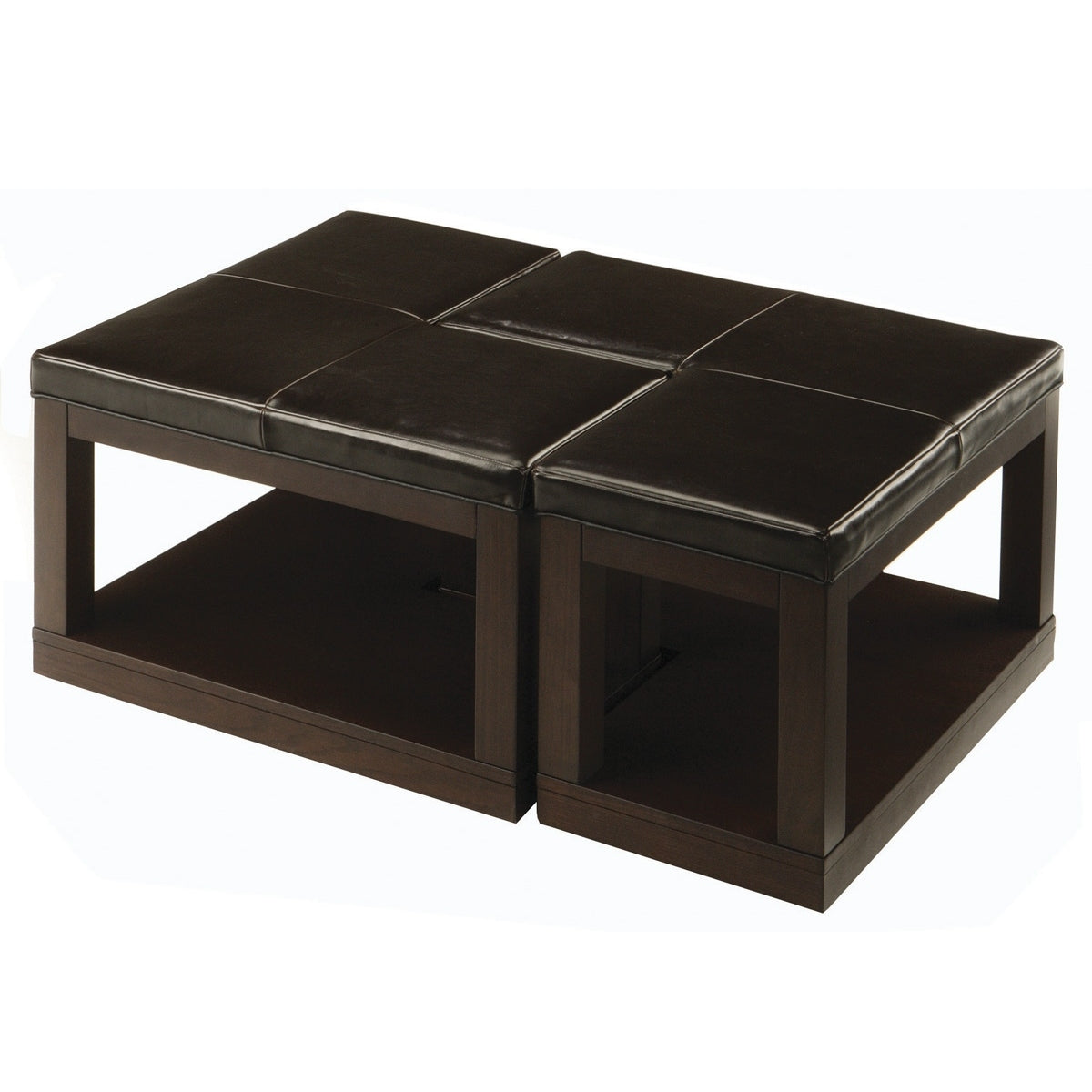 homelegance frisco bay l shaped cocktail table in espresso beyond stores. Black Bedroom Furniture Sets. Home Design Ideas