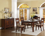 Homelegance Gallatin Dining Table in Warm Cherry