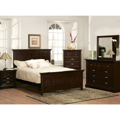 Homelegance Glamour 5 Piece Panel Bedroom Set in Espresso