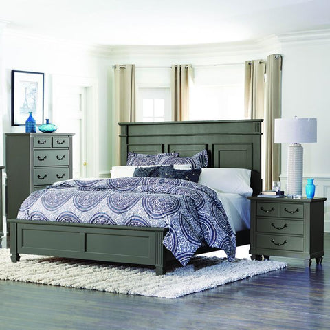 Homelegance Granbury 3 Piece Platform Bedroom Set in Casual Grey Rub-Through