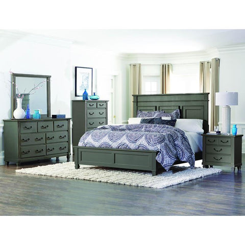 Homelegance Granbury 4 Piece Platform Bedroom Set in Casual Grey Rub-Through