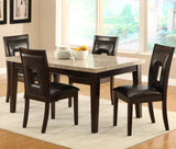 Homelegance Hahn Marble Top Dining Table in Espresso