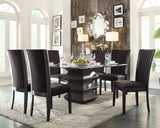 Homelegance Havre Glass Top Dining Table in Rich Espresso