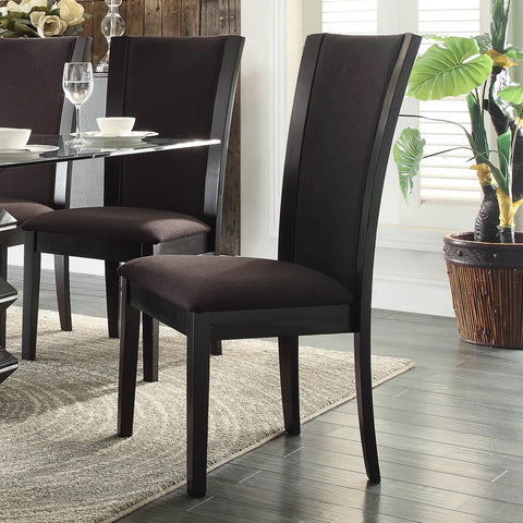 Homelegance Havre Side Chair in Dark Brown Fabric