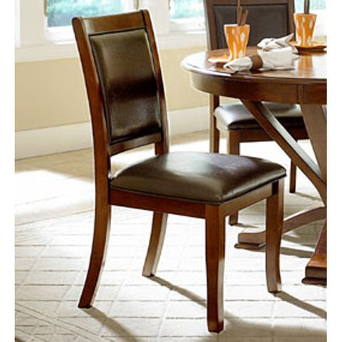 Homelegance Helena Vinyl Side Chair in Cherry