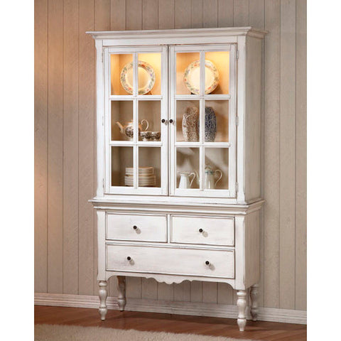 Homelegance Hollyhock China & Buffet In Oak / White