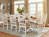 Homelegance Hollyhock Fabric Arm Chair In Oak / White