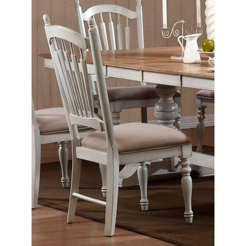 Homelegance Hollyhock Fabric Side Chair In Oak / White