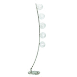 Homelegance Inara Floor Lamp in Glass & Satin Nickel Metal