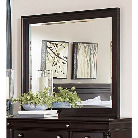 Homelegance Inglewood Rectangular Mirror in Cherry